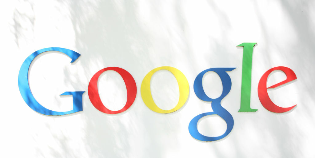 The Google logo is seen at the Google headquarters in Mountain View, California. on September 2, 2011.