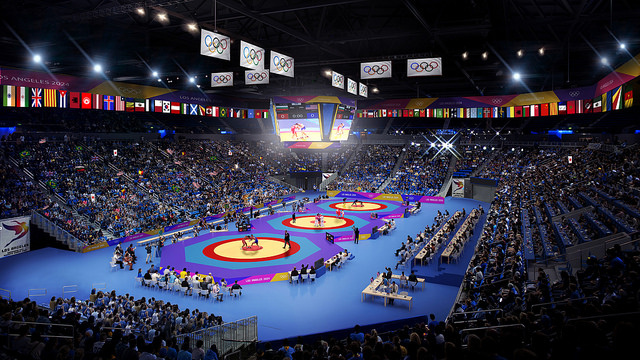 Judo competition would take place at UCLA's Pauley Pavilion.