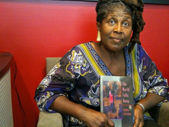 Poet Wanda Coleman with her latest collection,