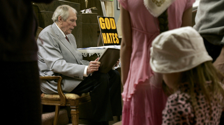 File photo: Westboro Baptist Church founder Fred Phelps.