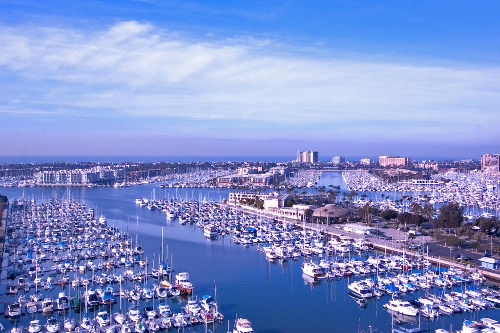A view of Marina del Rey.