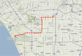 The endeavour in la 893 kpcc map endeavours final frontier will be a road trip across la sciox Gallery