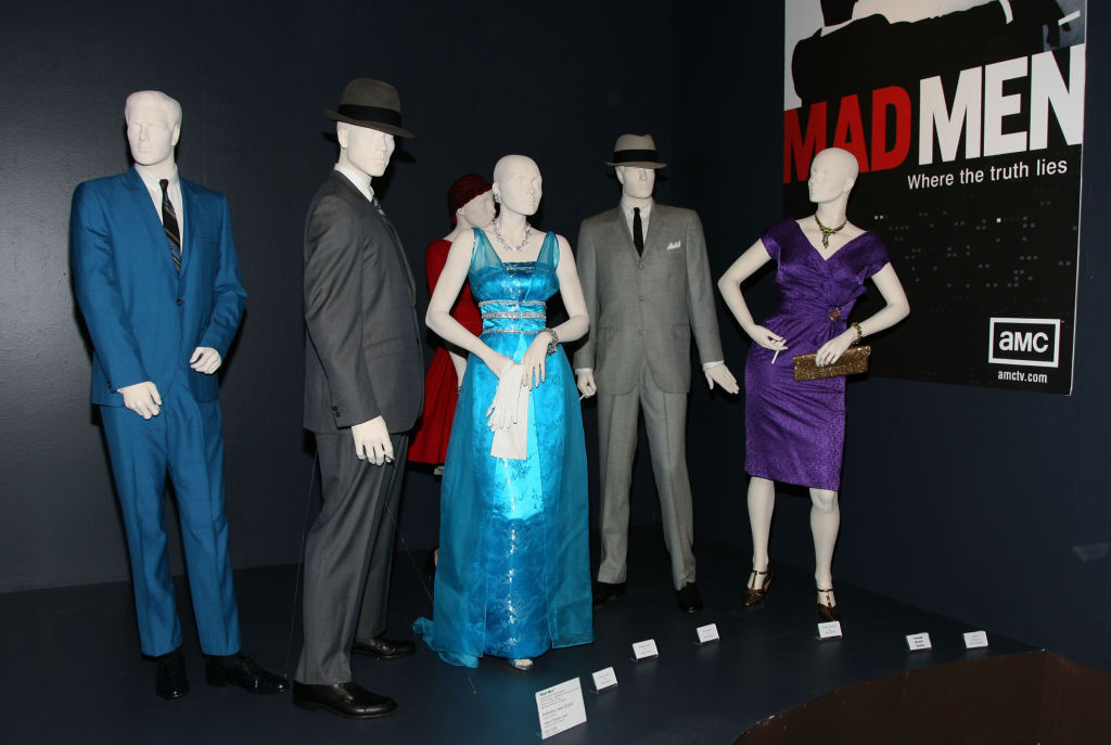 Mannequins wearing designs from the show 'Mad Med' are seen at the FIDM Museum's 'The Art Of Outstanding Television Costume Design' exhibition on July 26, 2008.