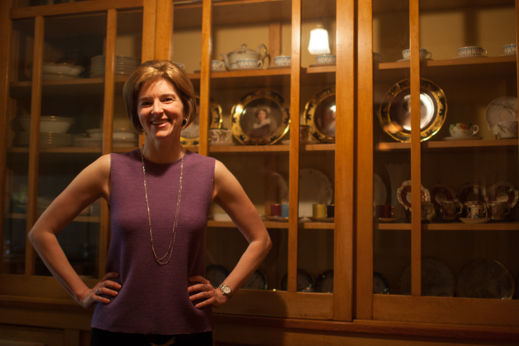 Anne Mallek, curator for the Gamble House, prepared the upstairs-downstairs tour.