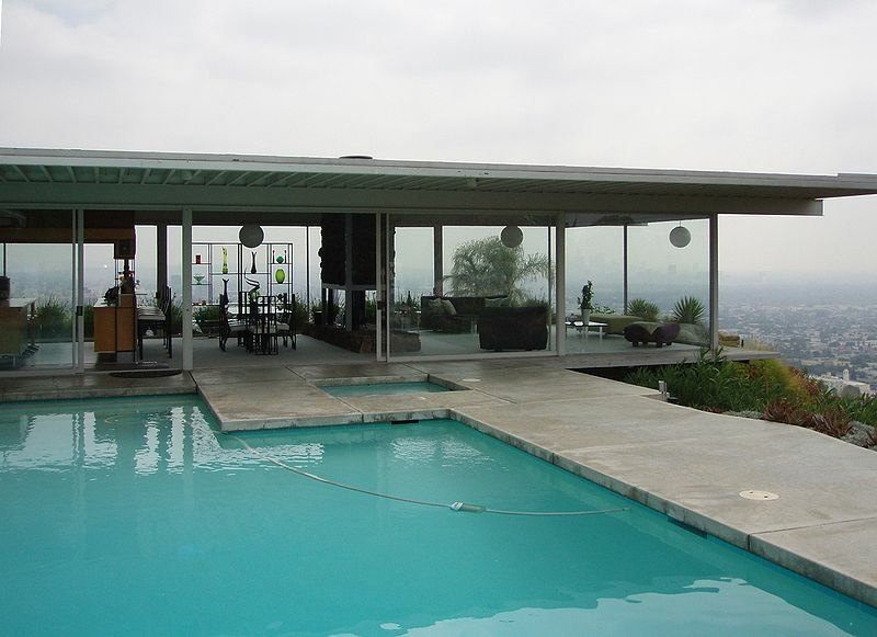 The Case Study House No. 22 — Stahl House — Hollywood Hills, Los Angeles, California.