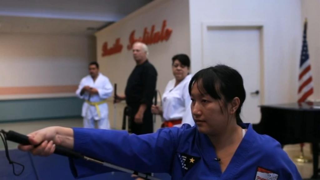 Blind Anaheim tae kwon do black belt Thuy Tran