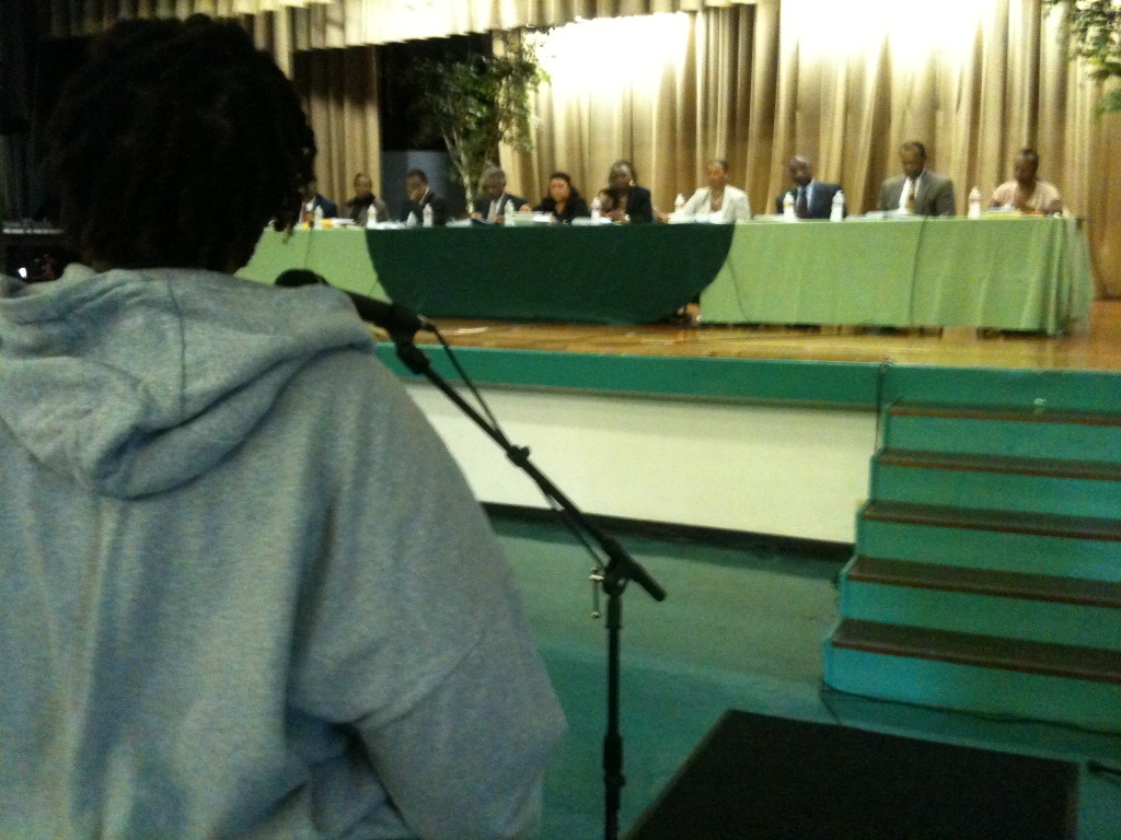 Inglewood Unified aide Trina Hubbard was one of many district employees who urged the school board not to cut employee pay.