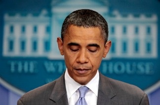 President Barack Obama speaks on the debt limit impasse from the briefing room of the White House