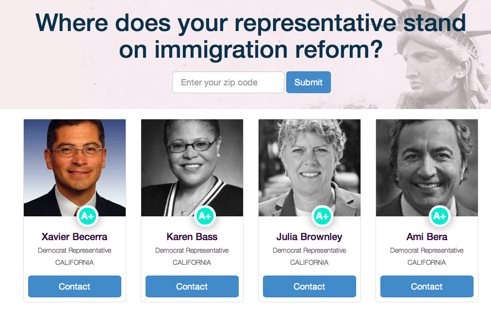 The new app Push4Reform allows users to learn what their elected representatives' position is on immigration reform and how to contact them. It's part of an effort by Facebook CEO Mark Zuckerberg's advocacy group FWD.us, which in November hosted a