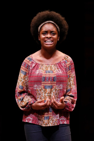 Shaila Essley, 1st place winner performs during the August Wilson Monologue Competition Los Angeles Regional Finals at Center Theatre Group/Mark Taper Forum on March 2, 2015, in Los Angeles, California.