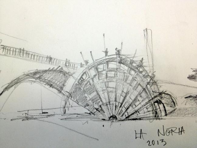 Artist rendering of Lauren Bon and Metabolic Studio's