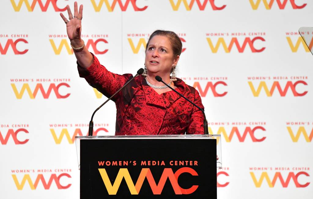 Honoree Abigail Disney speaks during the 2018 Women's Media Awards at Capitale on Nov. 1, 2018, in New York City.