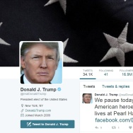 Screenshot of Trump's Twitter account