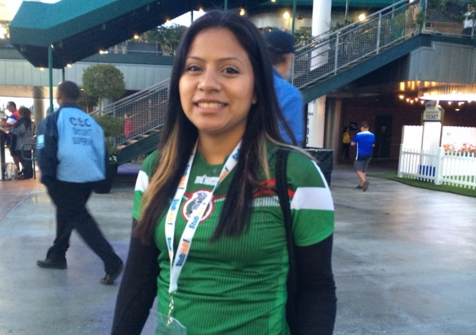 d194929517f She wore a Mexican national t-shirt but said her favorite player was American  Alex Morgan.