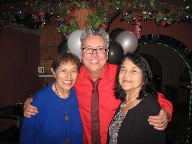 The late Lucy Casado, Dan Guerrero, and Delores Huerta at Dan's 70th birthday party at Lucy's El Adobe. Casado died Tuesday at the age of 91.
