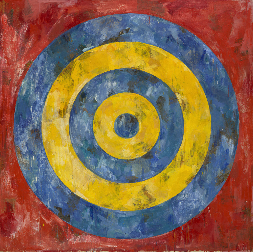 Jasper Johns, Target, 1961. Encaustic and collage on canvas. Art Institute of Chicago/Art Resource/Scala