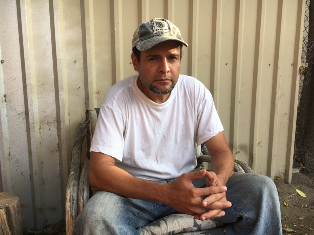 Sergio Casillas Ramírez, 42, spent two months in Adelanto Detention Facility in 2012. He still wears a monitoring anklet 24-hours a day and has to check in to his local ICE office regularly.