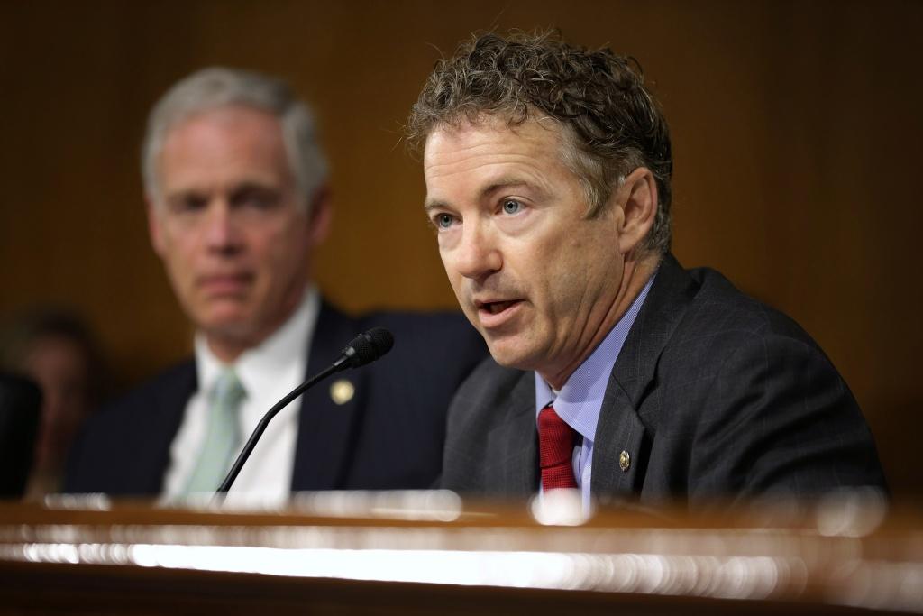 Senator Rand Paul (R-KY) at a senate hearing