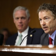 Senator Rand Paul (R-KY) at a senate hearing