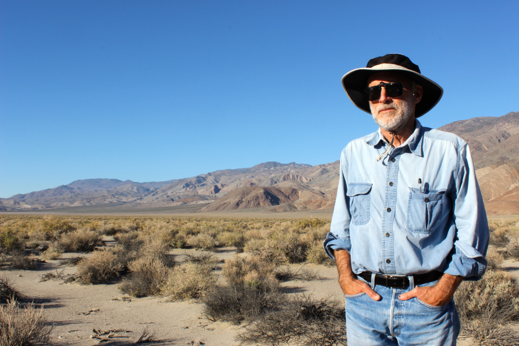 Daniel Pritchett, with the Owens Valley Committee, opposes the Southern Inyo County Solar Project proposed by LA's Department of Water and Power.