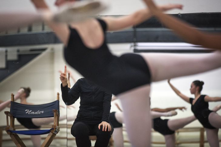 Ballet student Erin Power, 16, takes part in a Level 7 class at Westside Ballet School on Thursday, March 6, 2014.