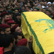 Mourners attend the May 14 funeral of Hezbollah fighter Ahmad al-Amin in Babliyeh, Lebanon. Hezbollah is fighting alongside the Syrian army and Amin was killed while fighting in Syria's Qalamoun mountains against Nusra Front, al-Qaida's branch in Syria. The Syrian army has suffered multiple setbacks recently, but Hezbollah did help dislodge rebel fighters along the Syria-Lebanon border.