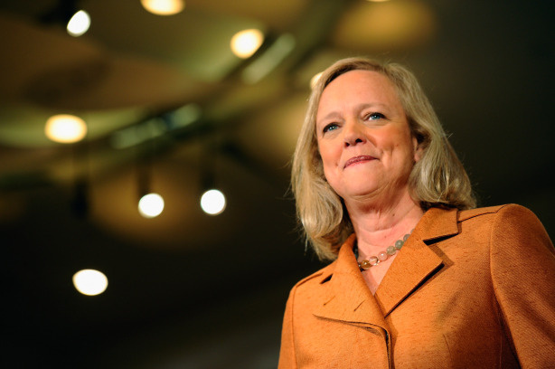 California Republican Party gubernatorial candidate Meg Whitman speaks during a campaign event on September 22, 2010 in Los Angeles, California.