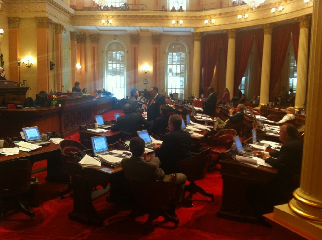 The California Senate, as they debated pension reforms.