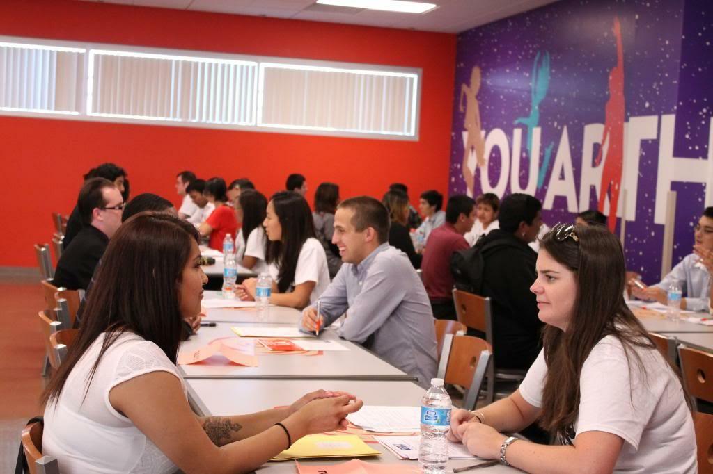 Participants at the YWCA's Job Corps program practice doing job interviews.