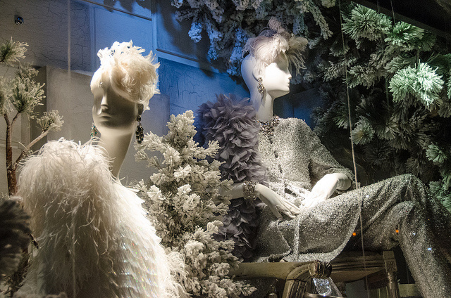 A display window at Bergdorf Goodman department store in New York City.