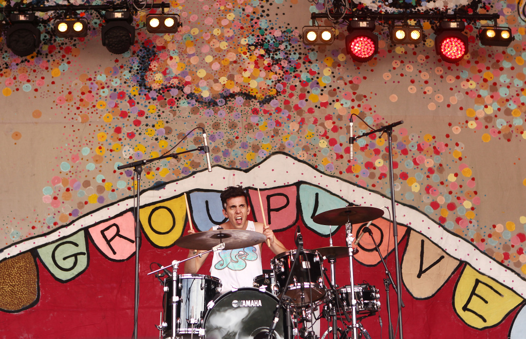 Ryan Rabin of Grouplove performs on stage on day two of the Falls Music Festival on December 30, 2011 in Lorne, Australia.