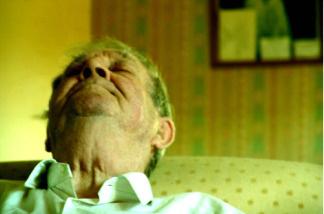 Sleeping elderly man