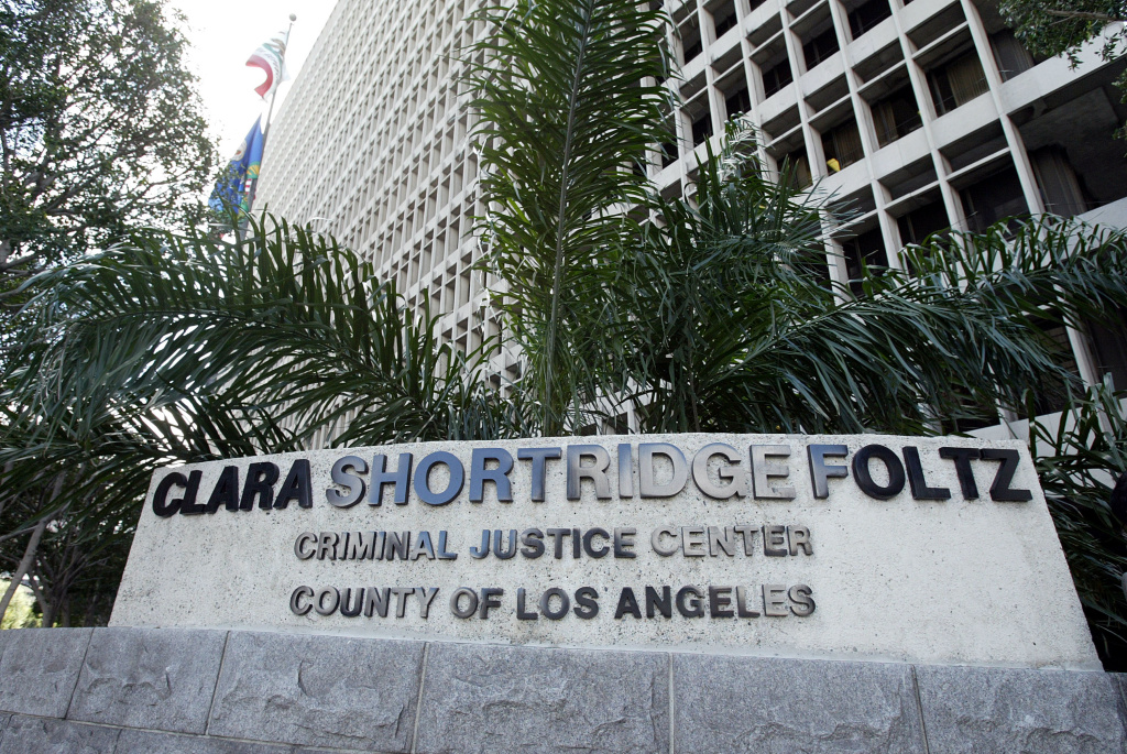 The Clara Shortridge Foltz Criminal Justice Center in Los Angeles is seen in this March 2, 2004 file photo. In a jab at sanctuary cities, federal immigration authorities say the unwillingness of local jurisdictions to transfer
