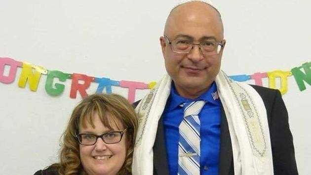 Nicholas Thalasinos and his wife, Jennifer. Nicholas, a Messianic Jew and county environmental specialist, perished in the attack.
