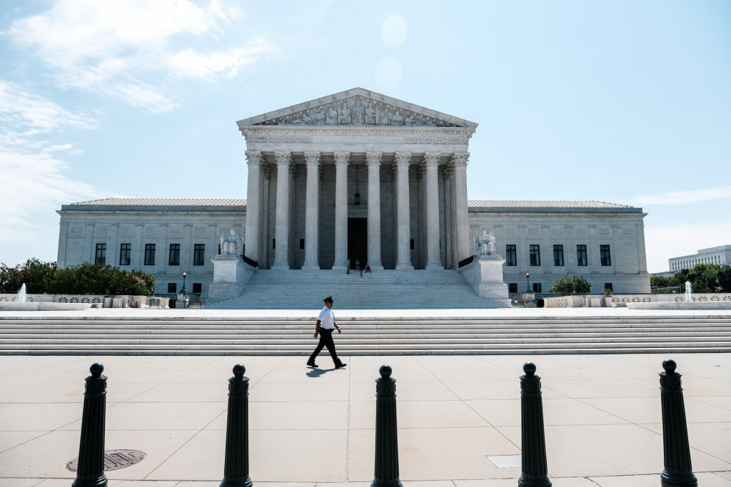 The U.S. Supreme Court building stands  on June 25, 2020 in Washington, DC.