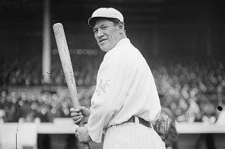 Sports legend, Jim Thorpe at the New York Polo Grounds in 1913