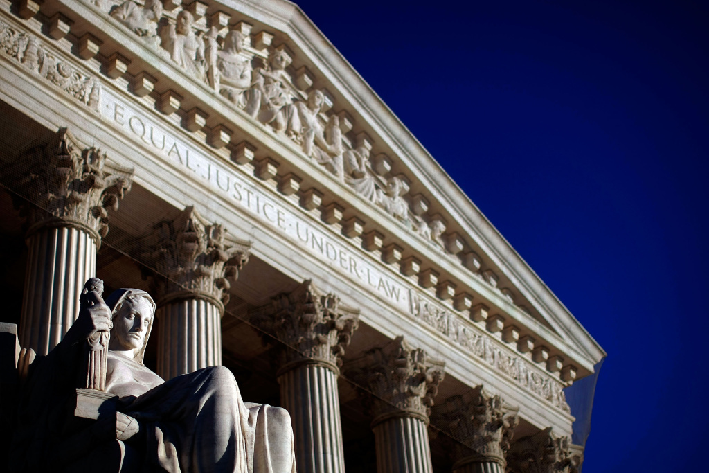 The U.S. Supreme Court is shown February 5, 2009 in Washington, DC.