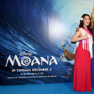 "Auli'i Cravalho (L) and Nicole Sherzinger attend the UK Gala screening of Disney's ""MOANA"" at BAFTA on November 20, 2016 in London, England."