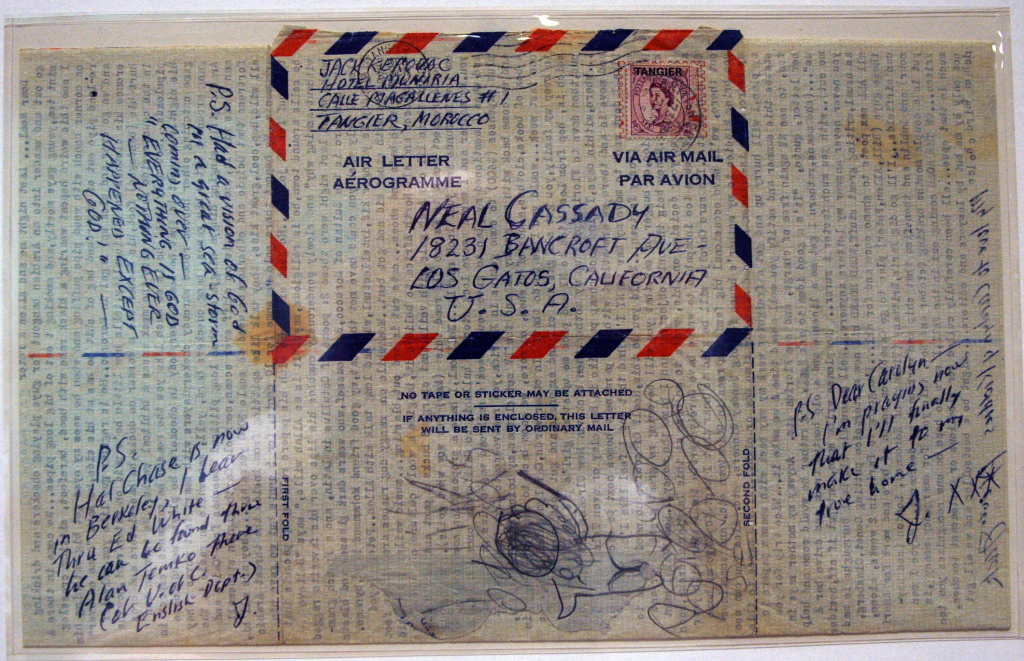 File photo: This air mail letter dated March 25, 1957 from Jack Kerouac to Neal Cassady is one of many documents on display at the Ransom Center's