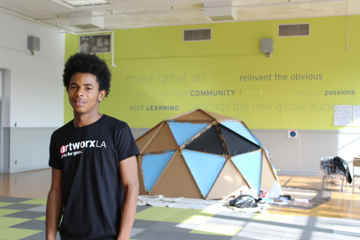 The Design + Media Arts Academy, a partnership between LAUSD and artworxLA, was created inside of a former middle school in South LA.
