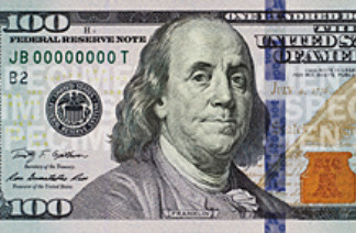 Image of the new 100-dollar bill.