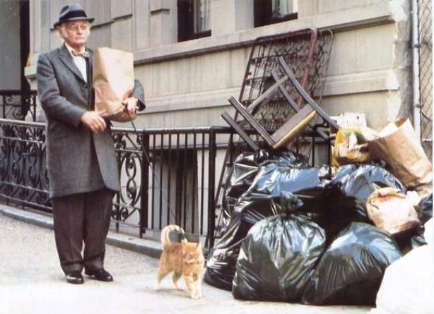 Art Carney and cat in Paul Mazursky's