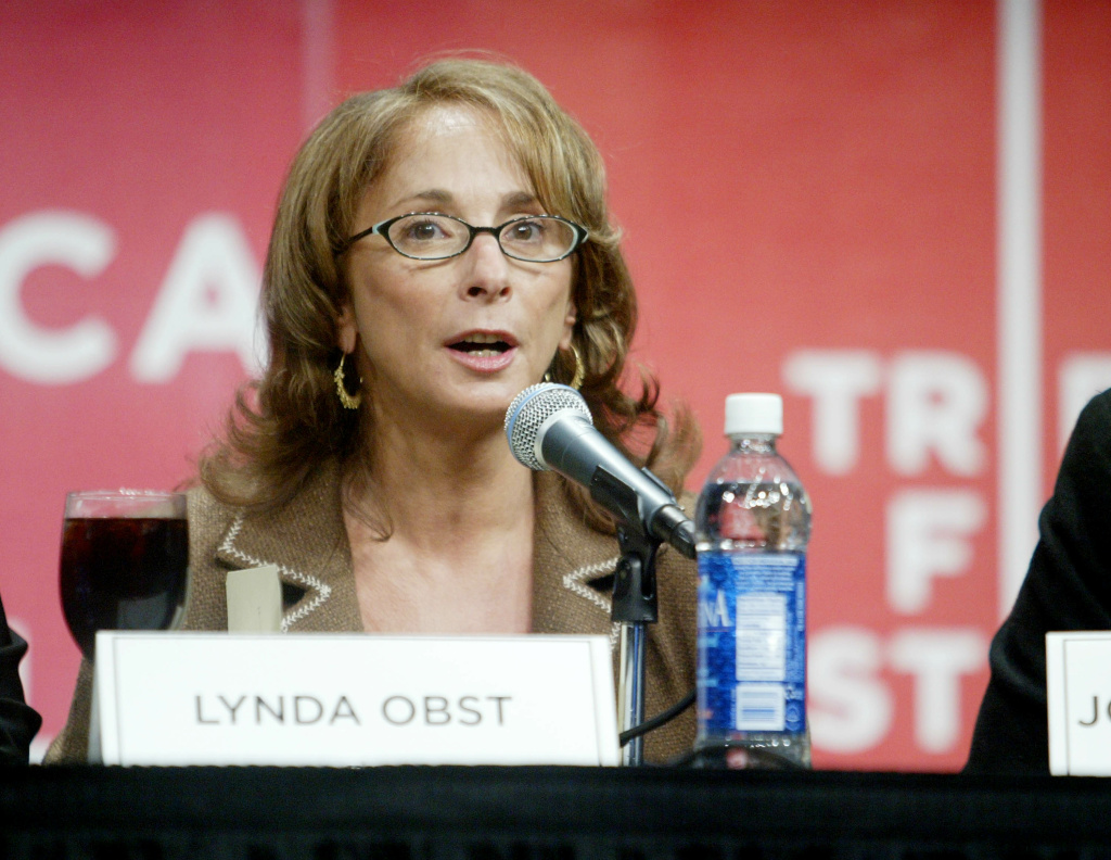 Panelist Lynda Obst speaks at the 'And She Rescues Him Right Back Panel' discussion at the Tribeca Film Festival April 30, 2005 in New York City.