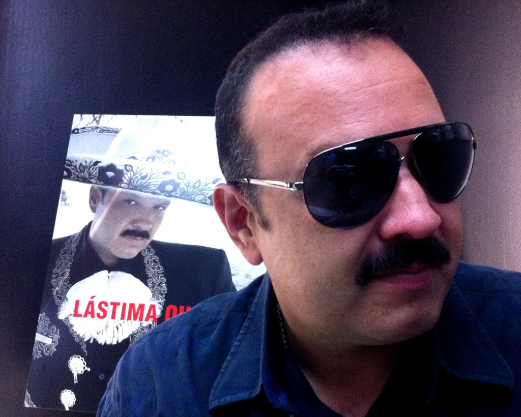 Latin pop superstar Pepe Aguilar, son of mariachi Antonio Aguilar and film star Flor Silvestre, at his office in the Valley.