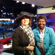 Gwen Ifill and Patt Morrison