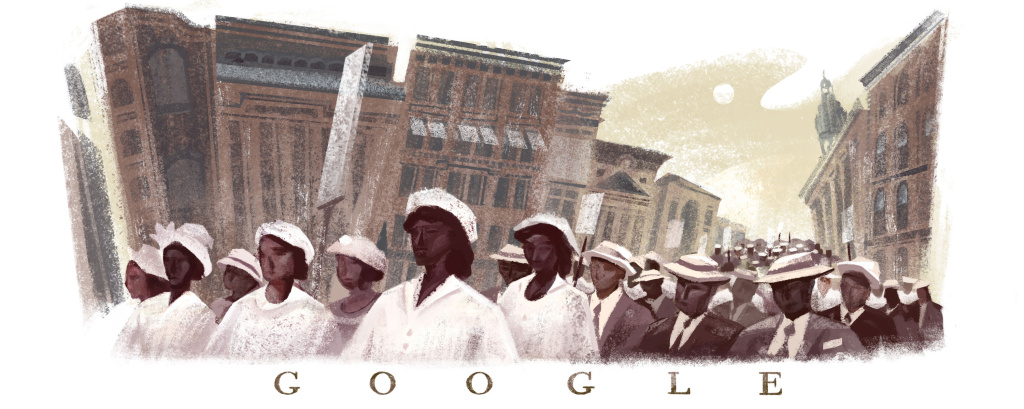 A Google doodle from earlier this year commemorated the 100th anniversary of the Silent Parade, during which almost 10,000 African-Americans marched in New York City to protest violence against African-Americans.