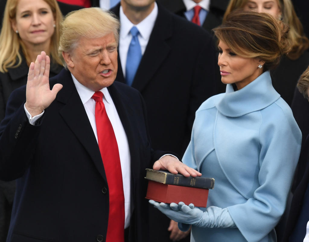 U.S. President-elect Donald Trump is sworn in as President on January 20, 2017 in Washington, DC.
