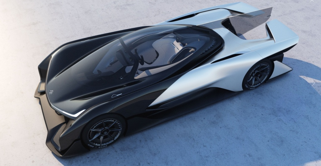 The FFZERO1, the first design concept presented by automotive startup, Faraday Future.