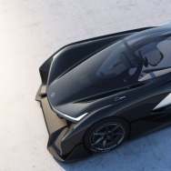 The FFZERO01, the first design concept presented by automotive startup, Faraday Future.