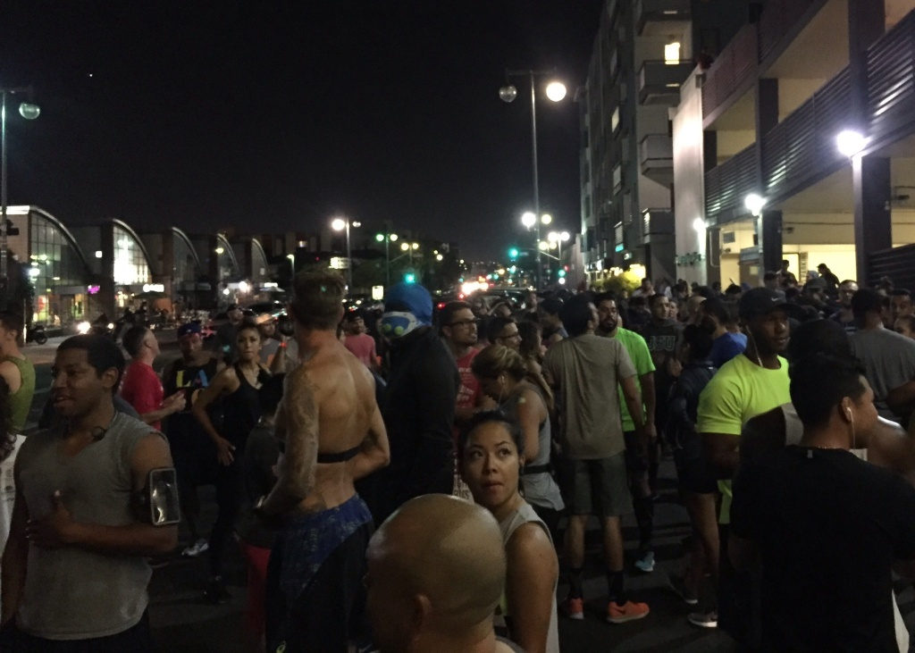 Blacklist LA runners gather in Little Tokyo.
